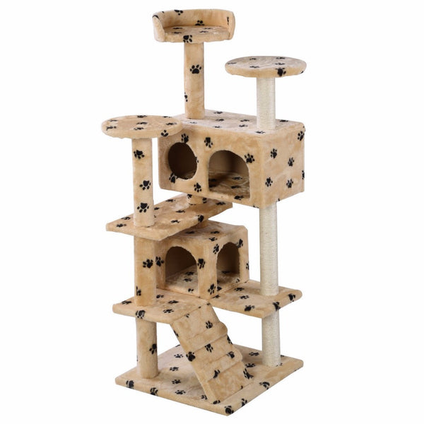 cat paw print cat tower, tree, condo