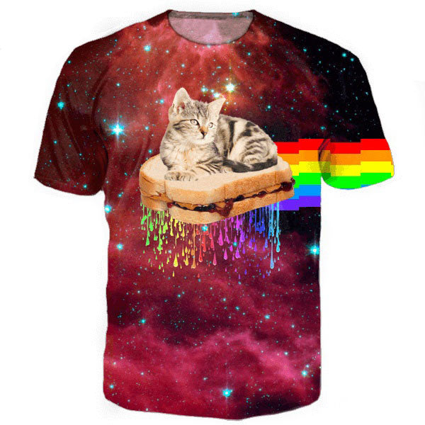rainbow space cat on pb&j