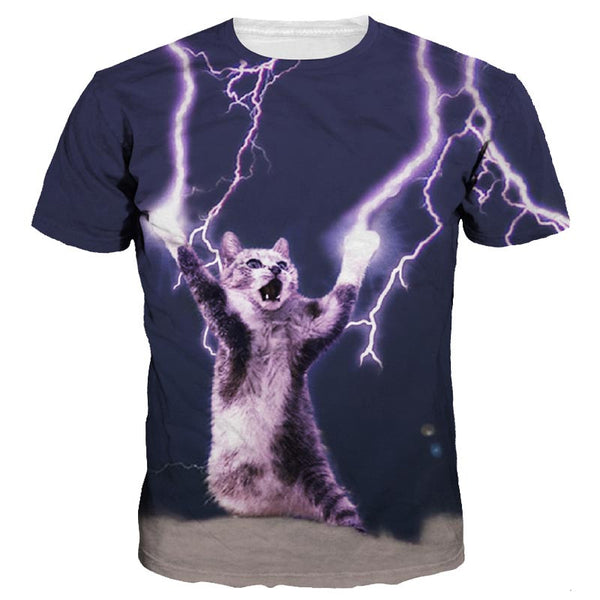 lighting space cat t shirt