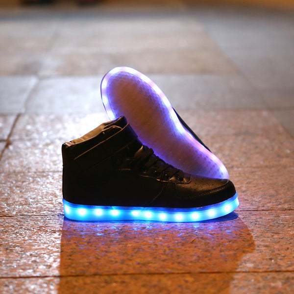 led shoes, high top led sneakers