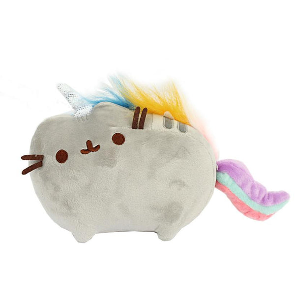 Plush Rainbow Tail Unicorn Cat Stuffed Animal Toy