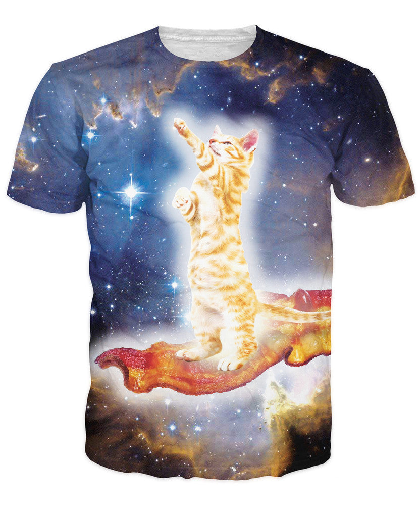 Space Cat Riding Dirty With Bacon T Shirt – Just Space Cats