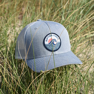 RIPTIDE VIBES Sunset Patch Hat -Light Heather Grey