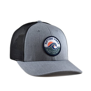 RIPTIDE VIBES Sunset Patch Hat - Dark Heather Grey