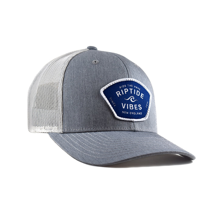 Riptide Vibes Patch Hat - Heather Grey
