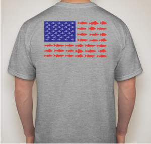 American Fish Flag Short-Sleeve T-Shirt