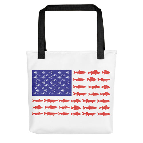 American Fish Flag Tote Bag