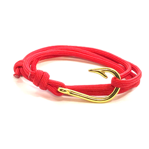 The Red Sky At Night - Fishhook & Anchor Bracelet
