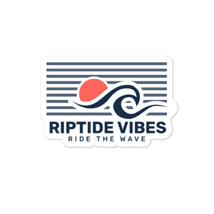 RIPTIDE VIBES Stripes n' Sunset Sticker