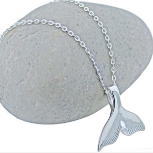Mermaid Tail Silver Plated Necklace