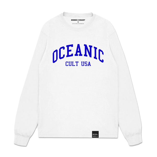 Oceanic Long Sleeve Shirt White & Royal
