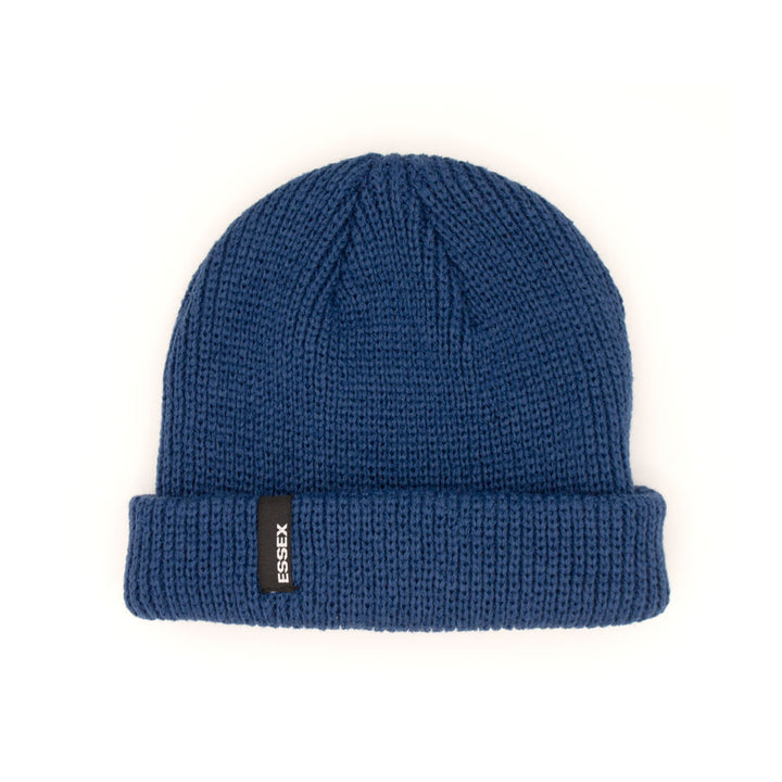 Ribbed Beanie Dark Blue