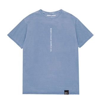 Serif Post T Shirt Washed Blue
