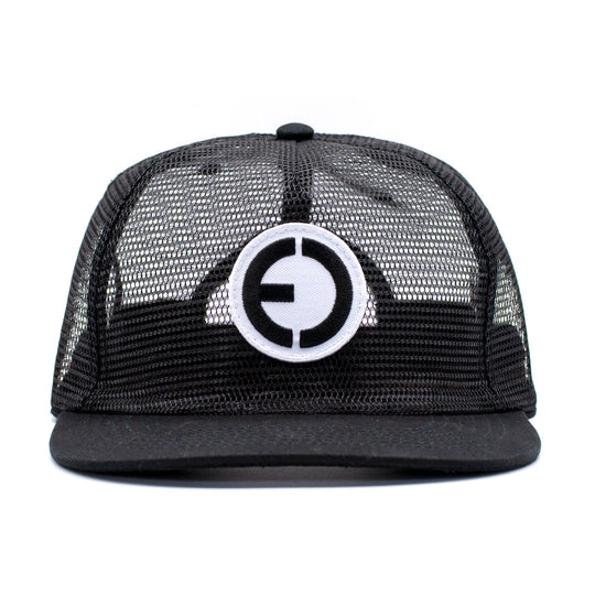 Full Mesh Snapback Hat Black