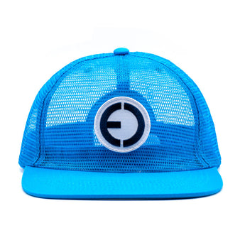 Full Mesh Snapback Hat Bright Blue