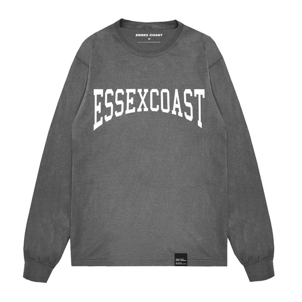 Varsity Long Sleeve Shirt Grey & White