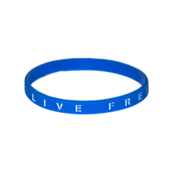 Live Free Rubber Wristband