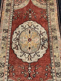 "2'5"" x 5' 1930's Vintage Turkish Anatolian"