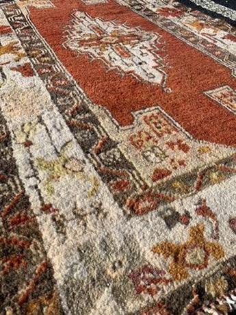 "2'11"" x 4'9"" 80yr Old Vintage Turkish Anatolian"