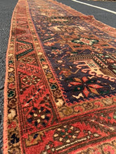 "Load image into Gallery viewer, 3' x 14'4"" Vintage Persian Runner"