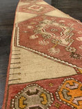 "2'3"" x 10'7"" Vintage Turkish Oushak Runner"