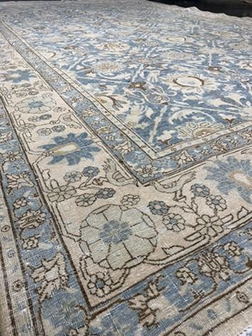 "6'10"" x 10'4"" Rare Antique Tabriz Large Area Rug - Online Oriental Rugs"