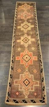 "2'9"" x 13'10"" Vintage Turkish Oushak Runner"