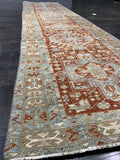 "2'9"" x 10'10"" Antique Karajeh Runner - Online Oriental Rugs"