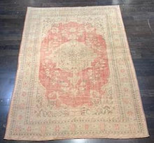 "Load image into Gallery viewer, 6'6"" x 9'4"" Antique Distressed Turkish Oushak - Online Oriental Rugs"