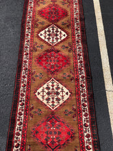 "Load image into Gallery viewer, Gorgeous 3'5""x10' Vintage Colorful Sarab Runner"