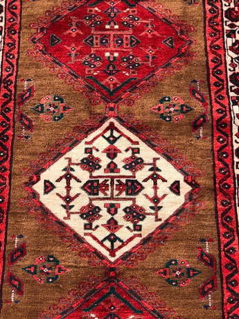 "Gorgeous 3'5""x10' Vintage Colorful Sarab Runner"
