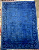 "12'11"" x 19'2"" Hand Weaved New Overdyed Peshawar Super Size Me Area Rugs"
