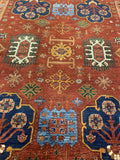 "13'10"" x 16'4"" Hand Weaved 100% Wool Kazak Large Area Rug"