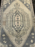 "3'5"" x 7'1"" Vintage Turkish Oushak"