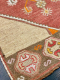 "2'7"" x 11'1"" 1960's Vintage Turkish Oushak Runner"