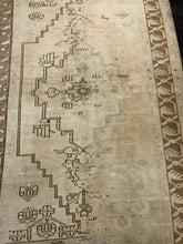 "Load image into Gallery viewer, 3'7"" x 6'8"" Vintage Turkish Oushak - Online Oriental Rugs"
