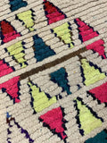 "3'2"" x 6'6"" Colorful Moroccan Azilal Bath Mat"