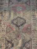 "2'6"" x 11'6"" Vintage Turkish Oushak Runner"