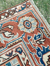 "Load image into Gallery viewer, 2'6"" x 6'6"" Vintage Turkish Oushak Rug Bits - Online Oriental Rugs"