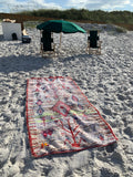 "3'9"" x 7'6"" Authentic Moroccan Made Beach Blanket / Rug"