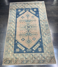 "Load image into Gallery viewer, 4'4"" x 7'3"" Vintage Turkish Oushak - Online Oriental Rugs"