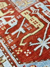 "Load image into Gallery viewer, 3'1"" x 11'1"" Antique Caucasian Runner - Online Oriental Rugs"