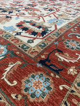 "Load image into Gallery viewer, 11'8"" x 14'5"" Gorgeous Hand Weaved Kazak Super size Me Large Oversized Area Rug - Online Oriental Rugs"