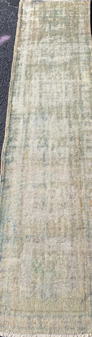 "2'9"" x 11'7"" Antique Turkish Oushak Runner"