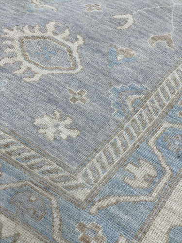 "12' x 14'9"" Gorgeous Lavender Hand Weaved Peshawar Super Sized Large Area Rug - Online Oriental Rugs"