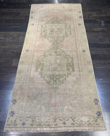 "3'6"" x 8'2"" Vintage Turkish Anatolian Runner"