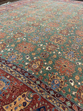"Load image into Gallery viewer, 13'3 x 16'4"" Hand Weaved 100% Wool ""Super Size Me"" Super Kazak - Online Oriental Rugs"
