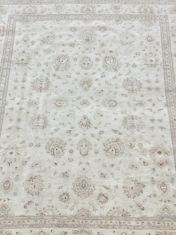 "11'8"" x 14'9"" Hand Weaved Wool Super Size Me Peshawar Large Area Rug"