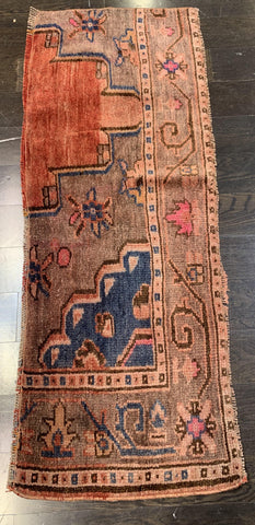 "1'8"" x 4'6"" Antique Rug ""Bit"""