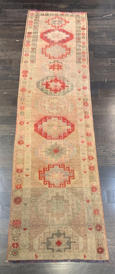"2'7"" x 10'7"" Vintage Turkish Oushak Runner"